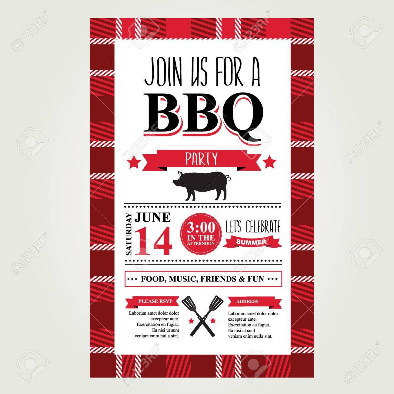 grill-party einladung. bbq broschüre menü-design. lizenzfrei, Einladung