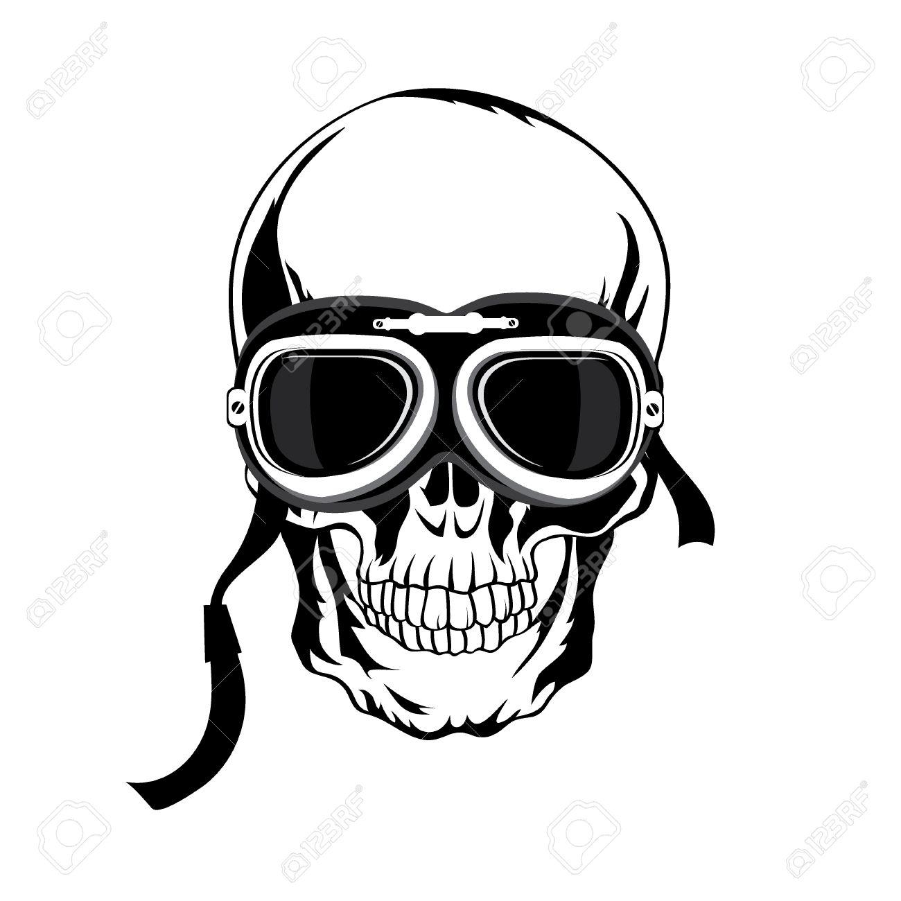 Ilustración Cráneo. Diseño De La Camiseta. Arte Tatoo. Ilustraciones ...