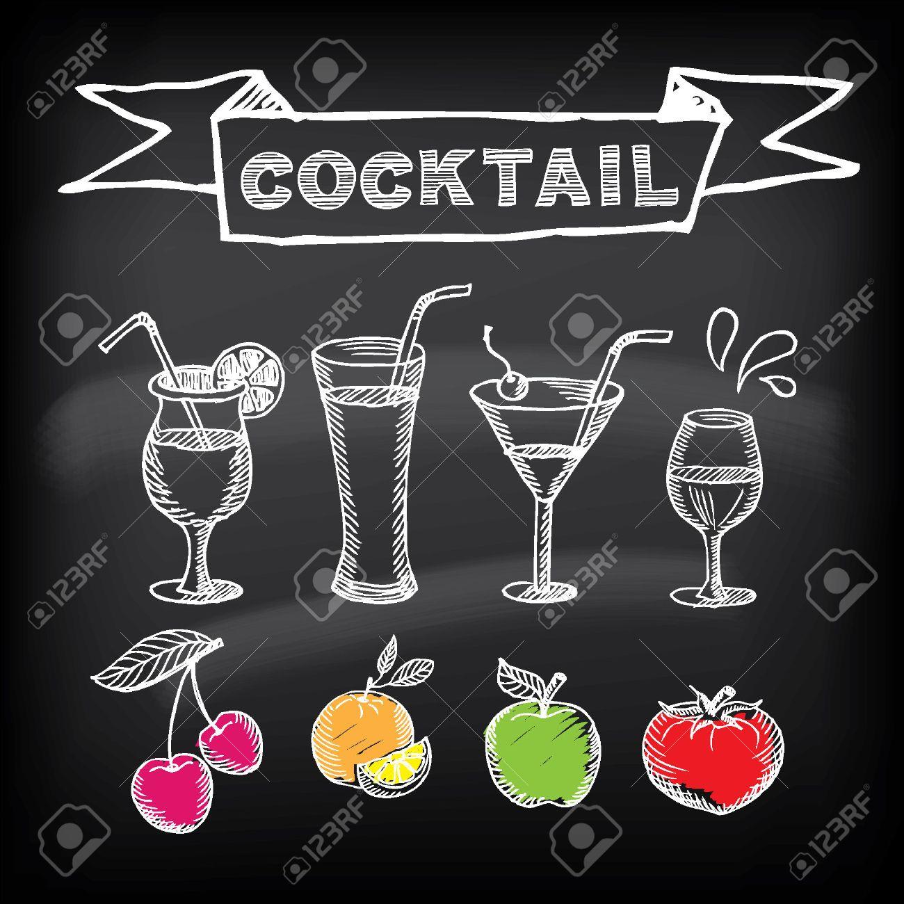 Cocktail-Bar Menü-Vorlage-Design. Lizenzfrei Nutzbare Vektorgrafiken ...