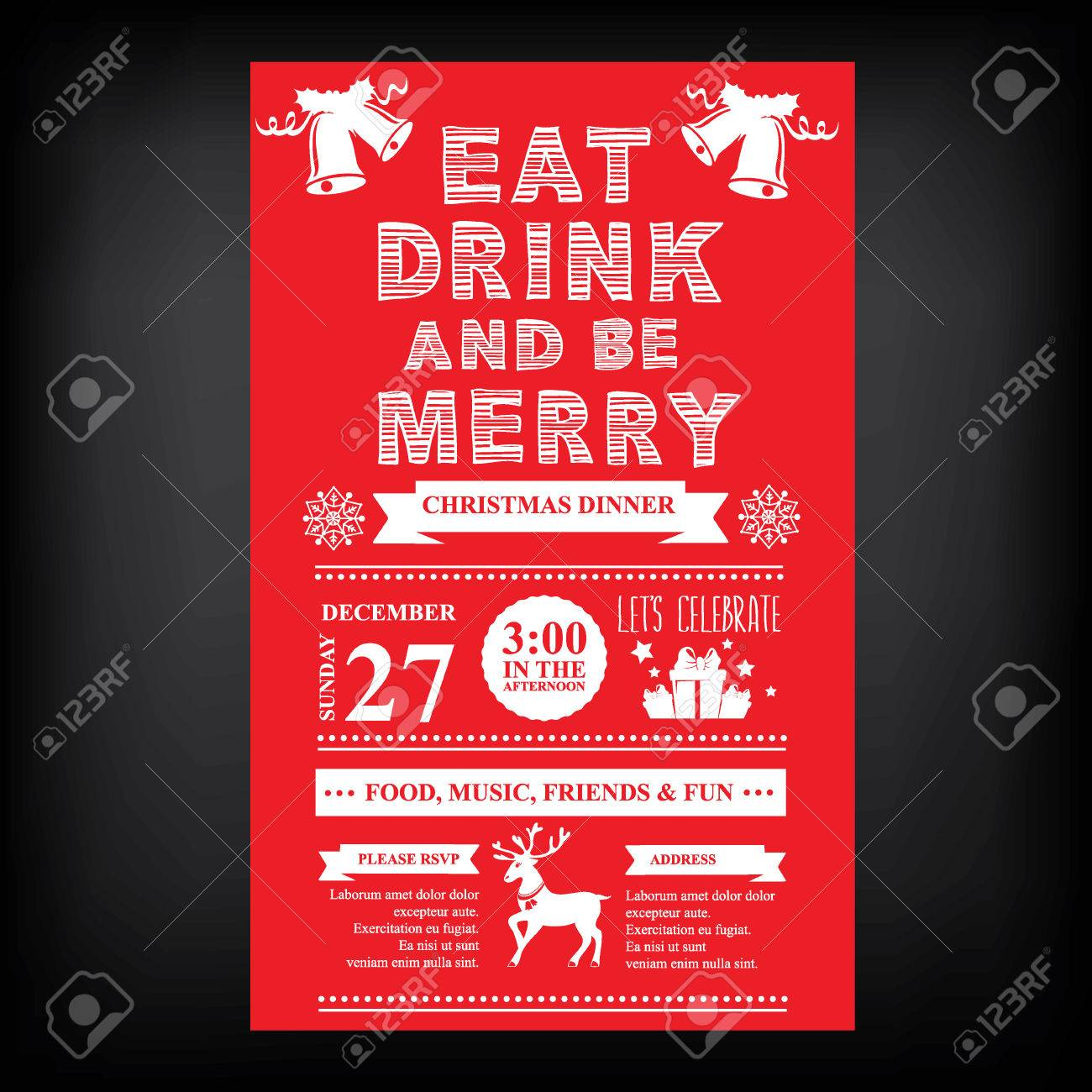 weihnachts restaurant und party menü, einladung. lizenzfrei, Einladungen