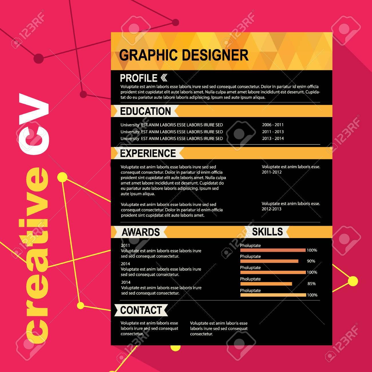 Reprendre Modèle Cv Arrière Plan Créatif