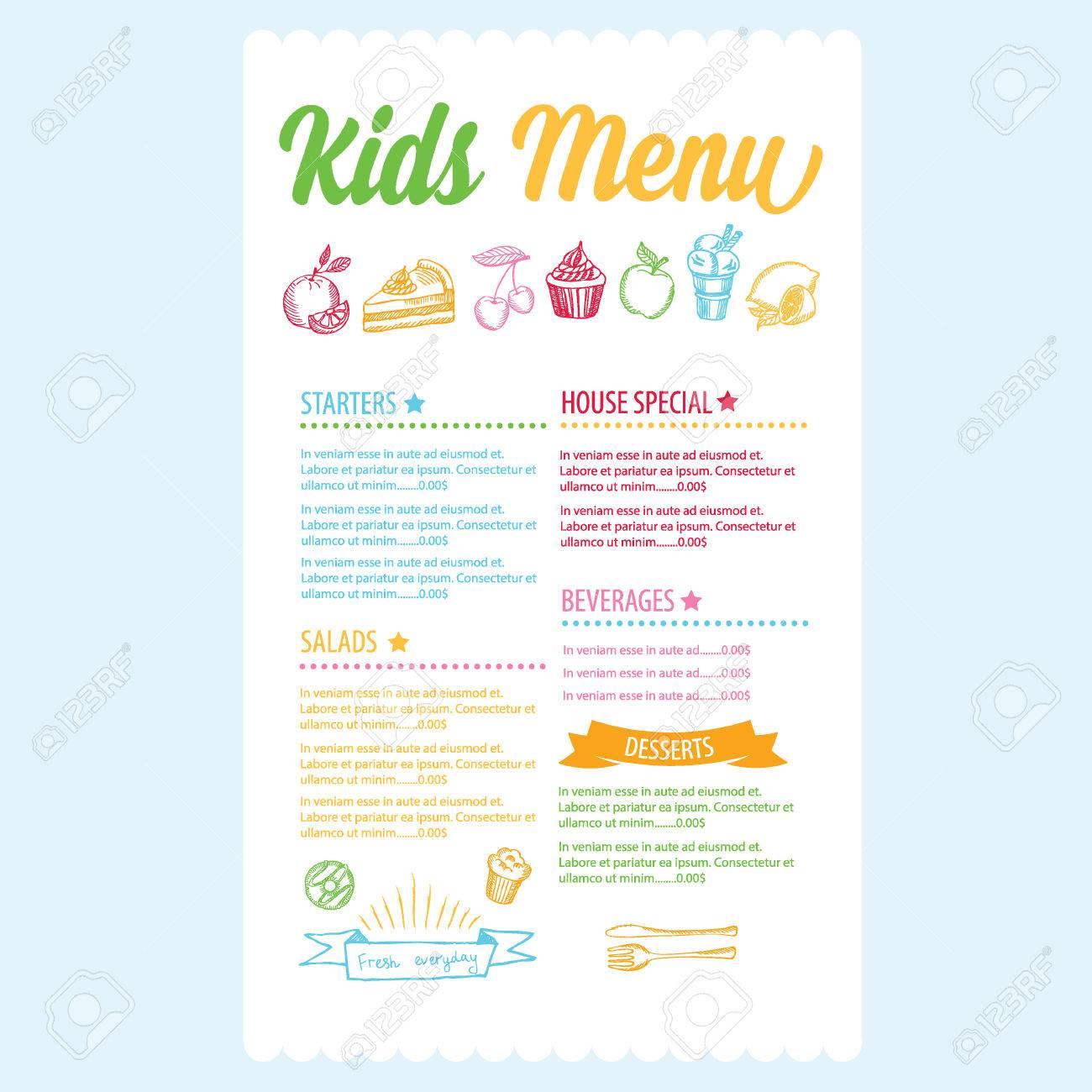Doc650422 Kids Menu Templates Kids Menu Kid Menu Designs Kid – Free Kids Menu Templates