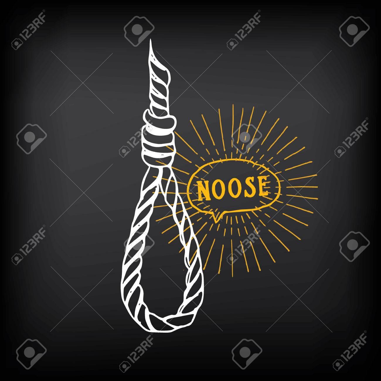 Hanging Rope Noose Sketch Design Royalty Free Cliparts Vectors