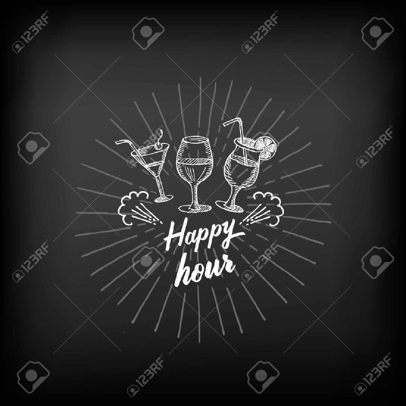happy hour wine images stock pictures royalty happy hour happy hour wine happy hour party invitation cocktail chalkboard banner