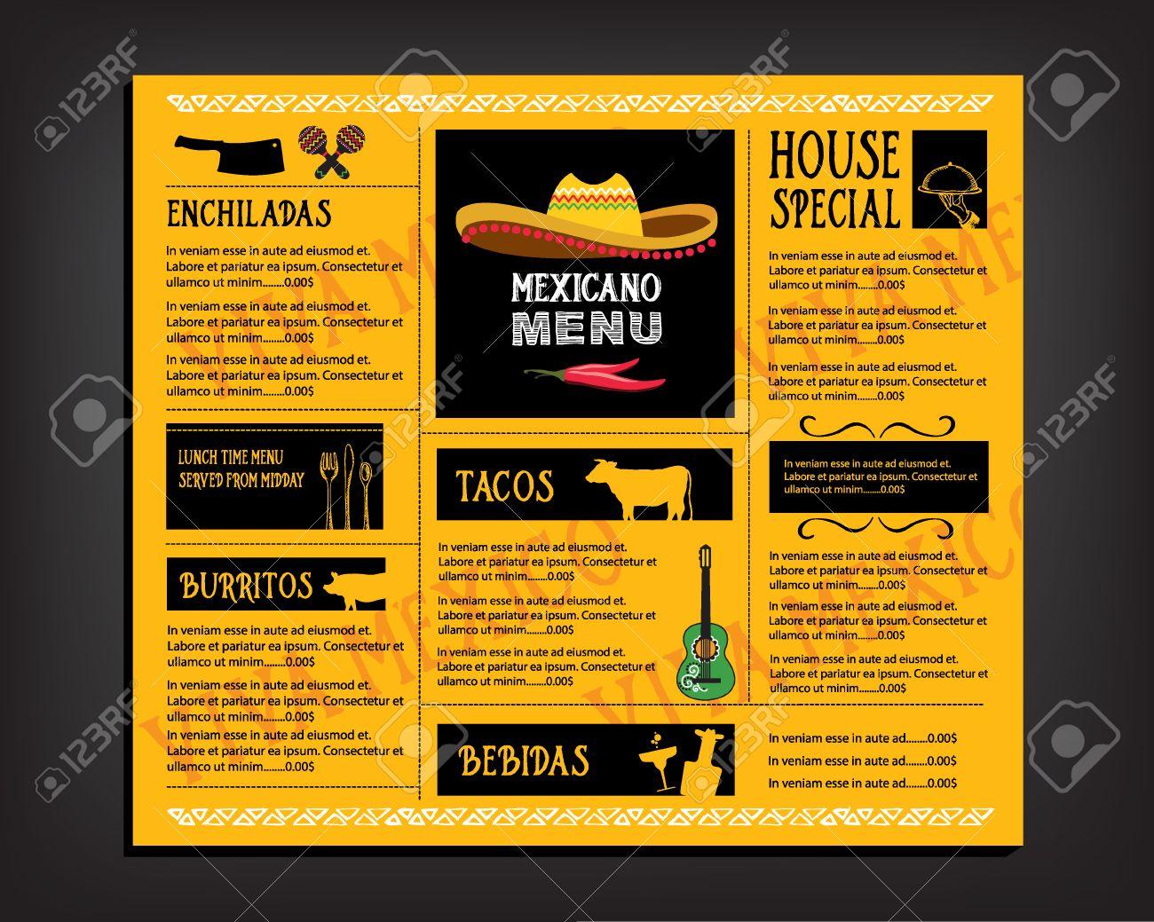 Cafe Menu Restaurant Brochure Food Design Template Royalty Free – Restaurant Brochure Templates