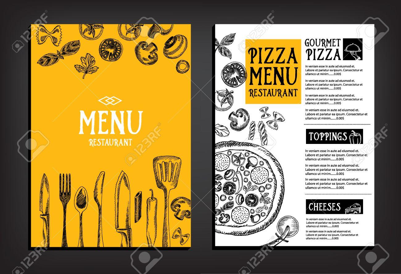 cafe menu restaurant brochure food design template royalty free