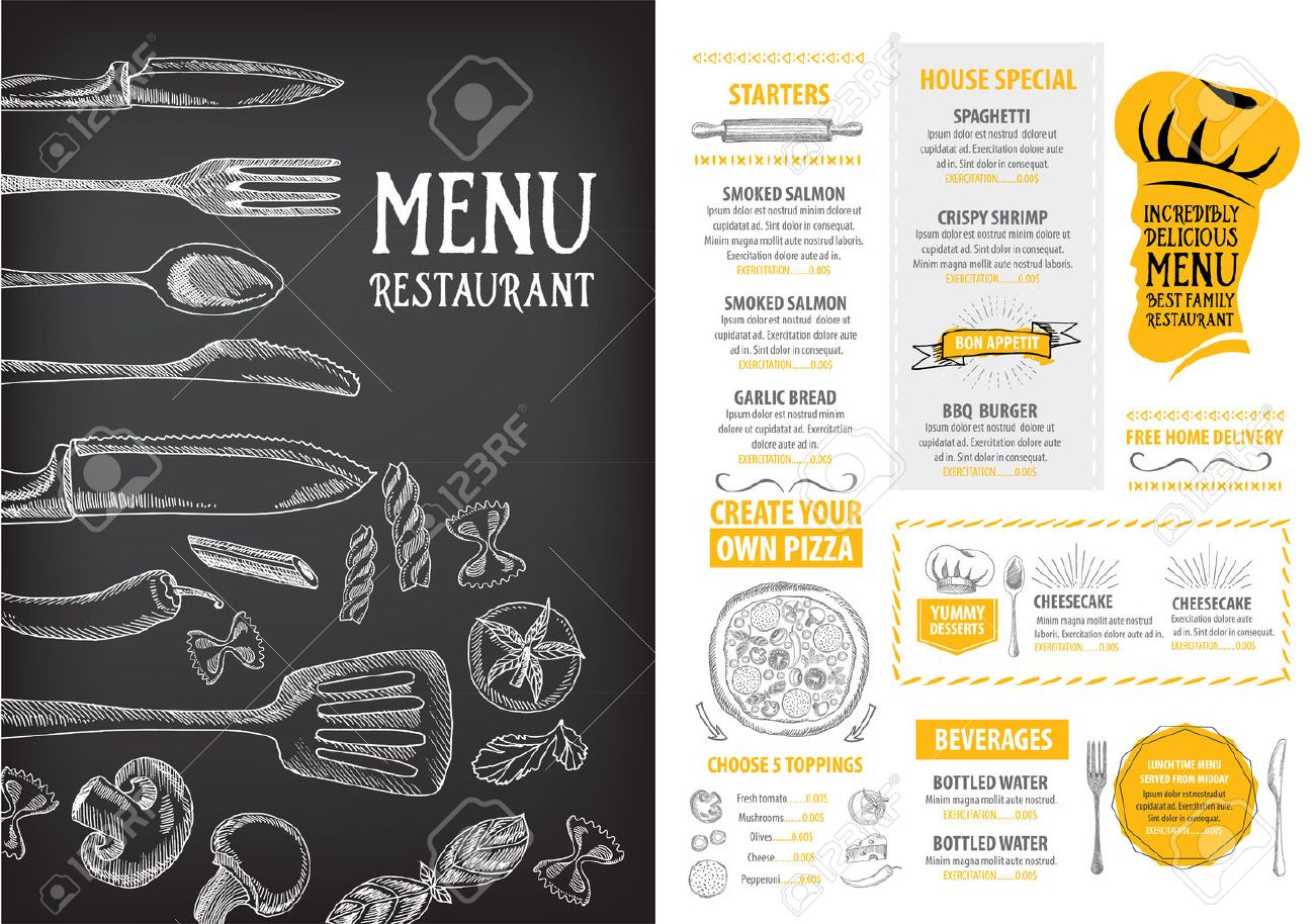 Restaurant Menu Free Template How To Write Professional Reference Letter  Free Party Invitation Templates For Word  Free Cafe Menu Templates For Word
