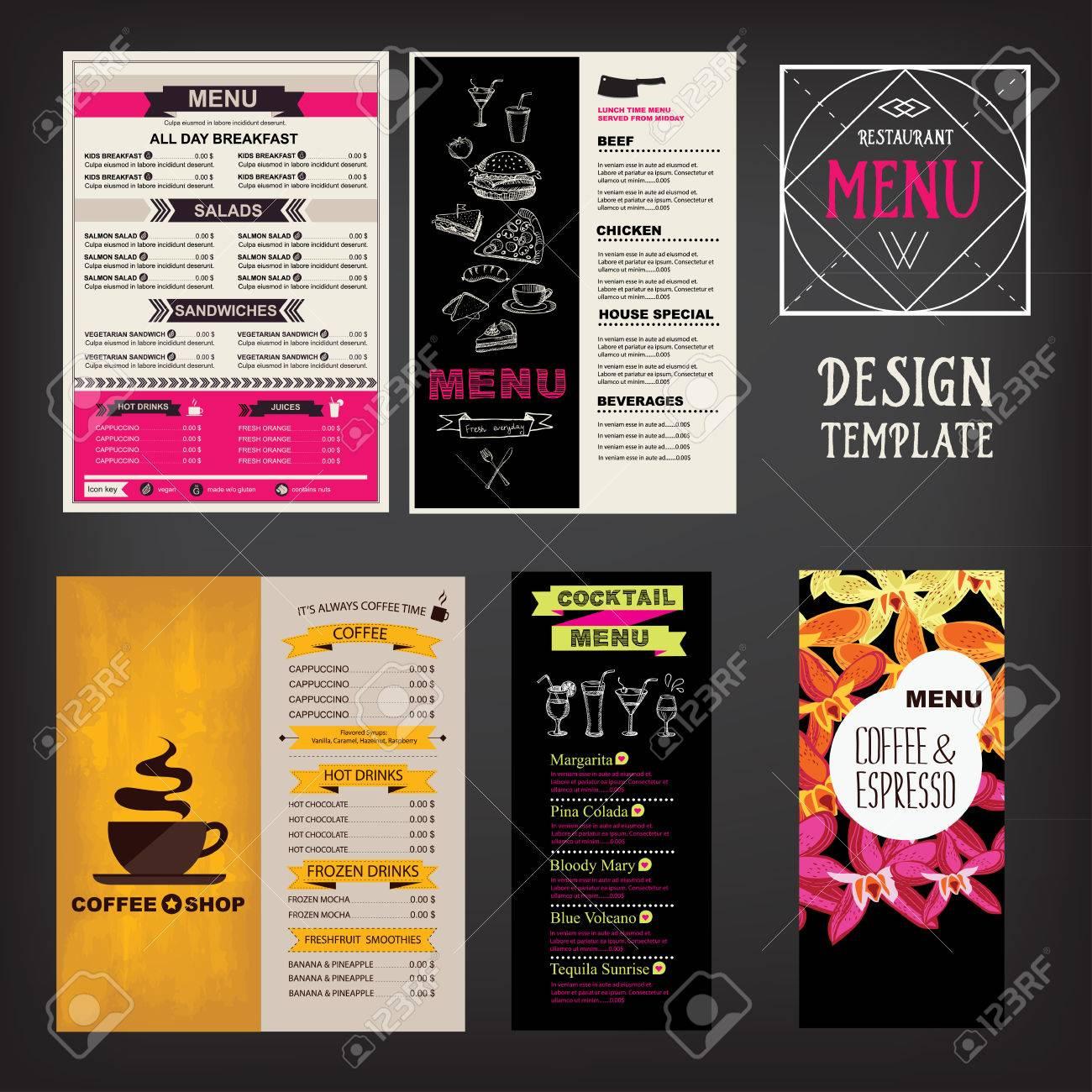 Restaurant-Café-Menü-Vorlage Design. Essen Flyer. Lizenzfrei ...