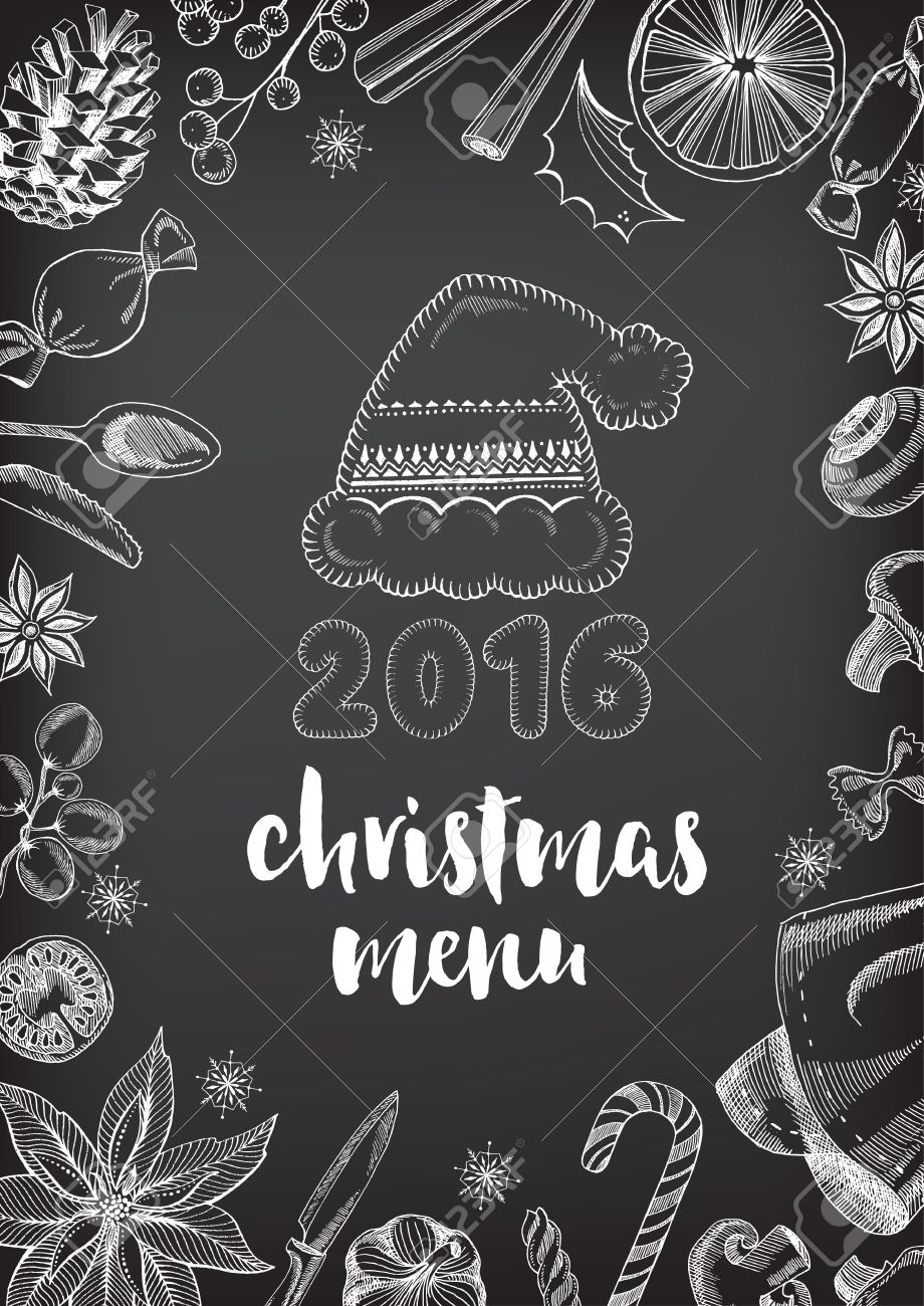 Christmas Party Invitation Restaurant, Menu Design. Vector ...