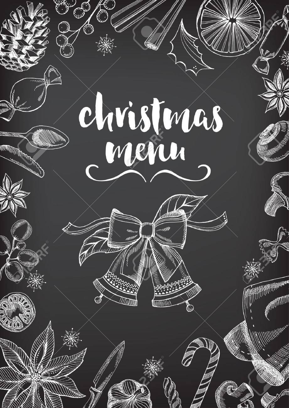 Christmas party invitation restaurant menu design vector template banco de imagens christmas party invitation restaurant menu design vector template with graphic stopboris Choice Image
