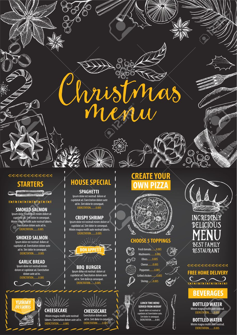 holiday card stock photos images royalty holiday card images holiday card vector christmas restaurant brochure menu design vector holiday template xmas