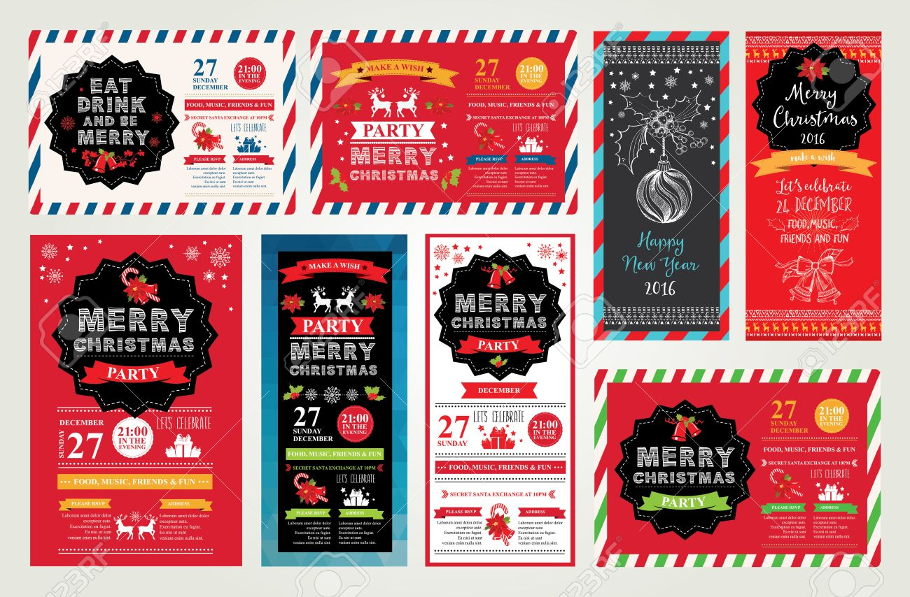 vector christmas party invitation toys holiday background vector vector christmas party invitation toys holiday background and design banner vector template hand drawn xmas graphic