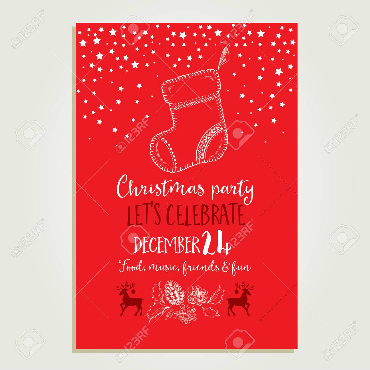 template christmas party invitation