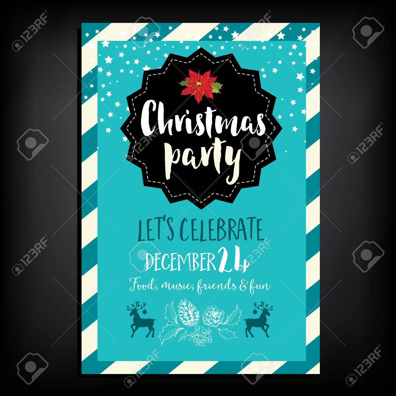 Vector christmas party invitation with toys holiday background vector christmas party invitation with toys holiday background and design banner vector template with stopboris Image collections
