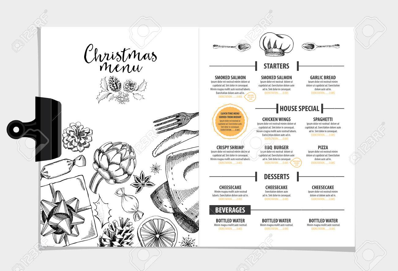 Vector Restaurant Brochure, Menu Design. Vector Cafe Template ...