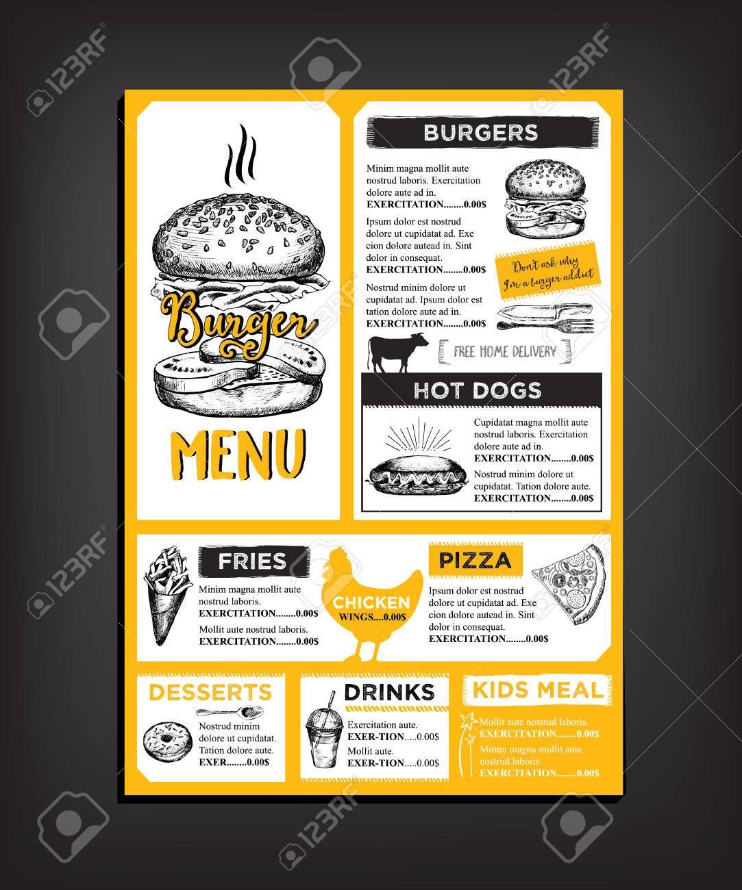 Restaurant brochure vector, menu design. - 50772151