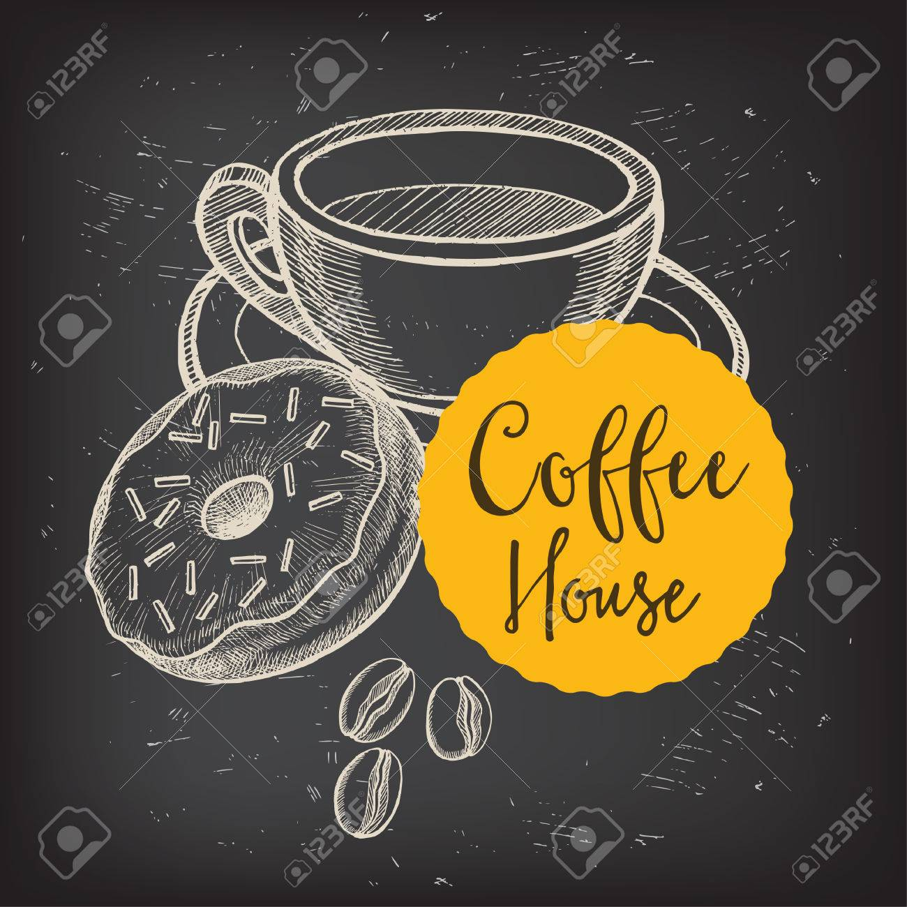 Kaffee Restaurant Broschüre Vektor, Coffee-Shop-Menü-Design ...
