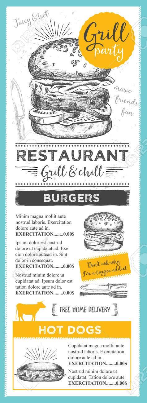 Menü Platzdeckchen-Food-Restaurant Broschüre, Menüvorlage Design ...