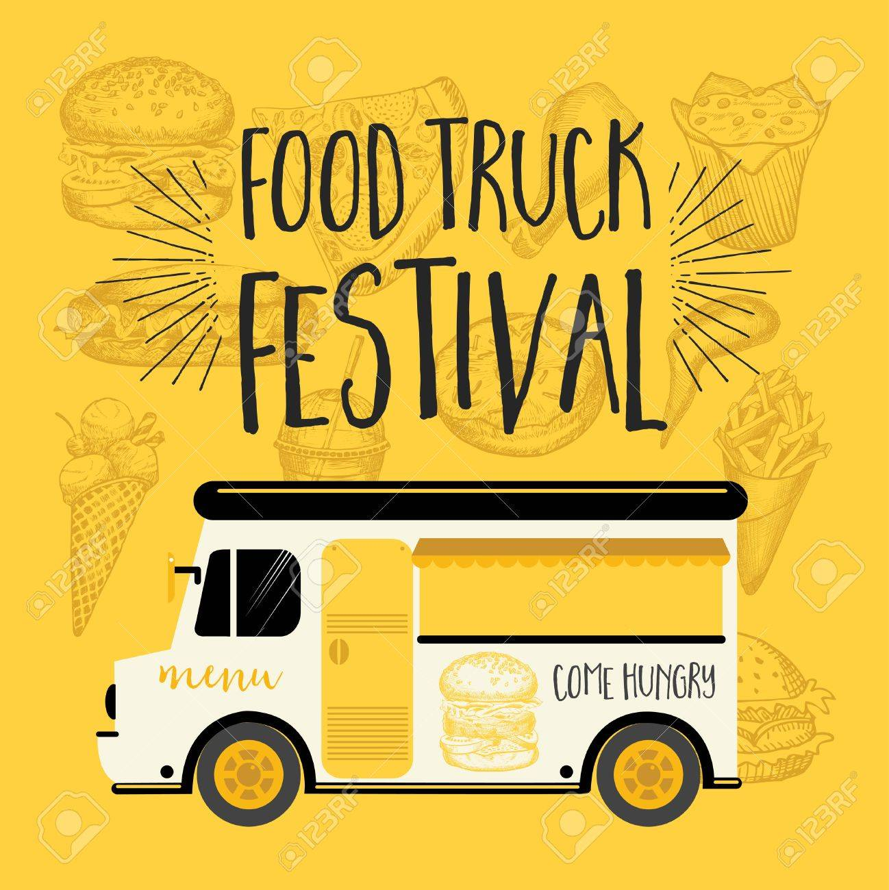 food truck festival menu food brochure street food template