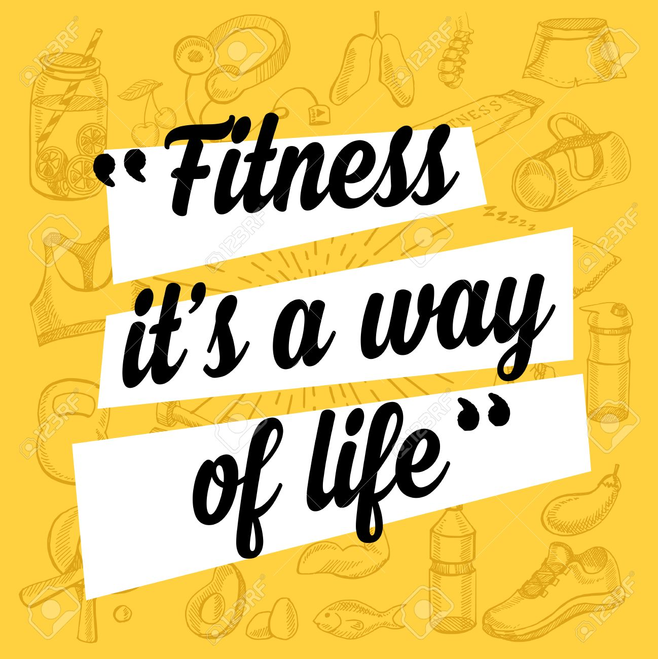 Fitness Motivation Quote Poster Gym Inspirational Banner With
