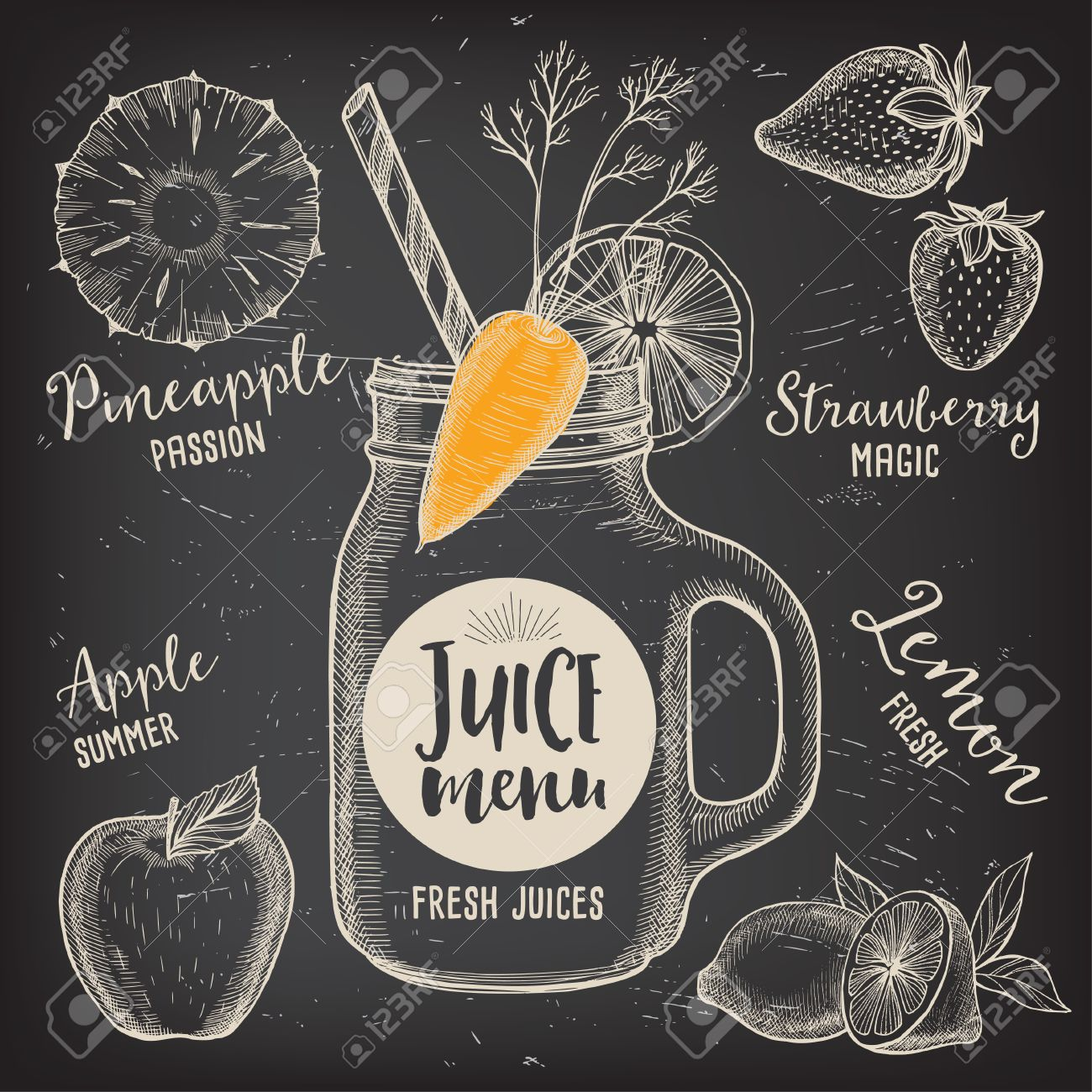 Juice Menu Placemat Drink Restaurant Brochure, Dessert Template ...
