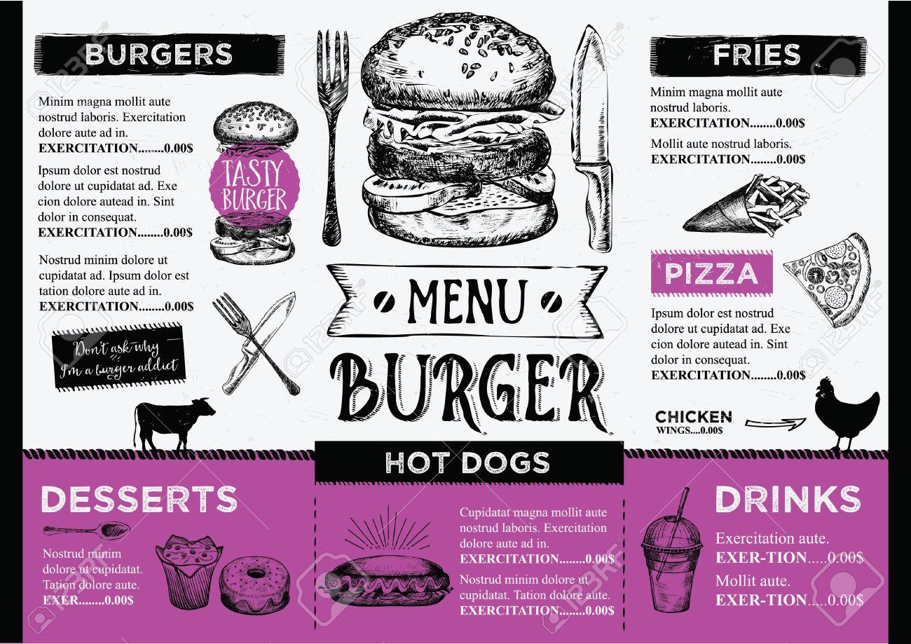 Menu Placemat Food Restaurant Brochure, Menu Template Design ...