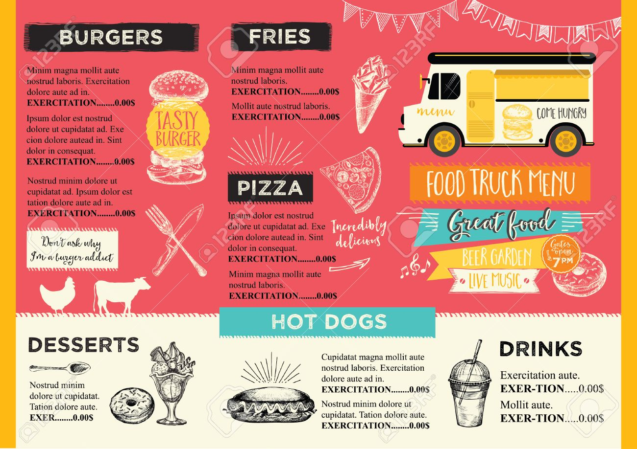Food Truck Flyer Antaexpocoachingco - Food truck flyer template