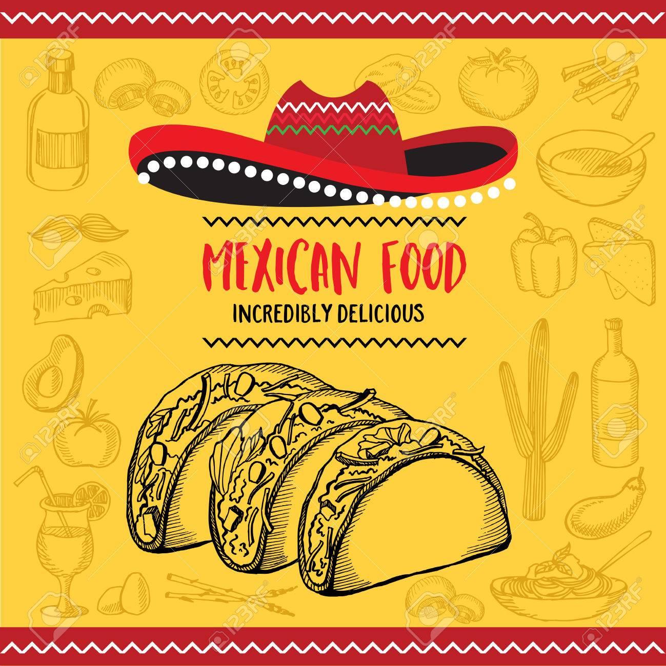 mexican menu placemat food restaurant menu template design