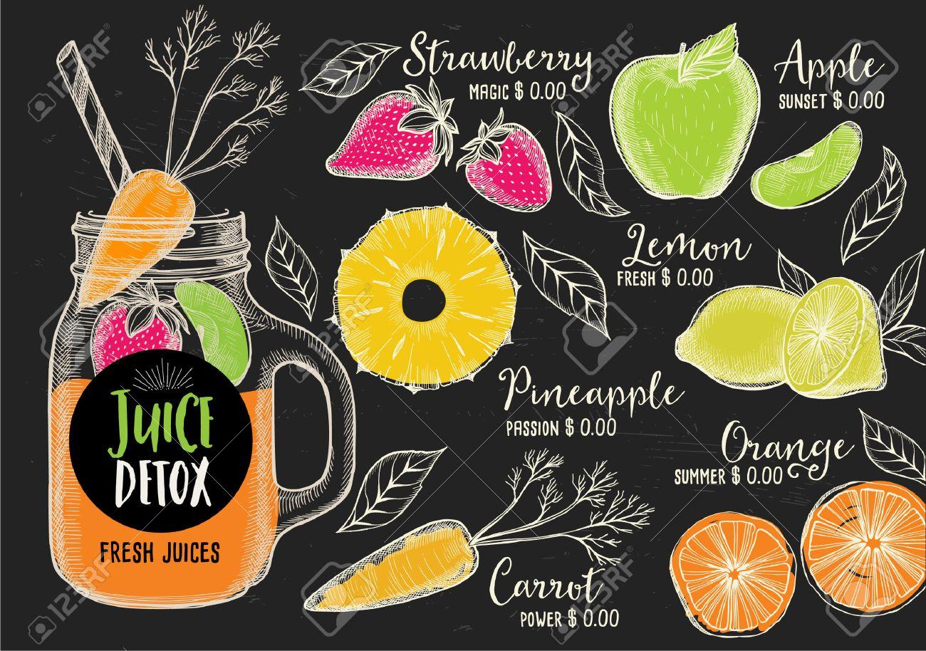 Juice Menu Placemat Drink Restaurant Brochure, Dessert Template ...