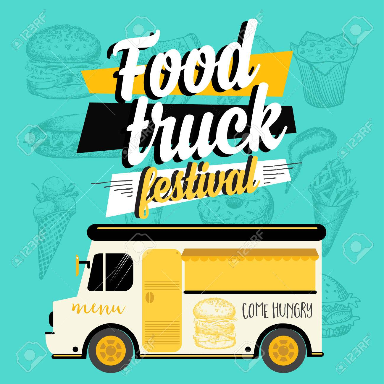 Free Food Truck Design Template Food Truck Design Inspiration - Food truck design template