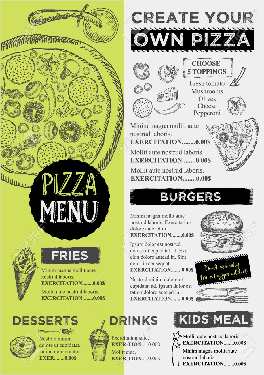 Menu Placement Food Restaurant Brochure, Menu Template Design ...