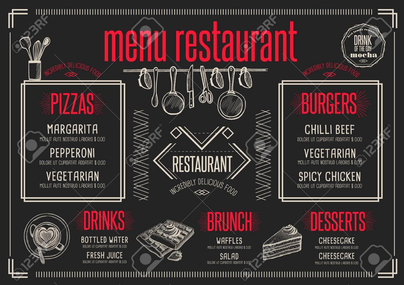 placemat menu restaurant food brochure cafe template design
