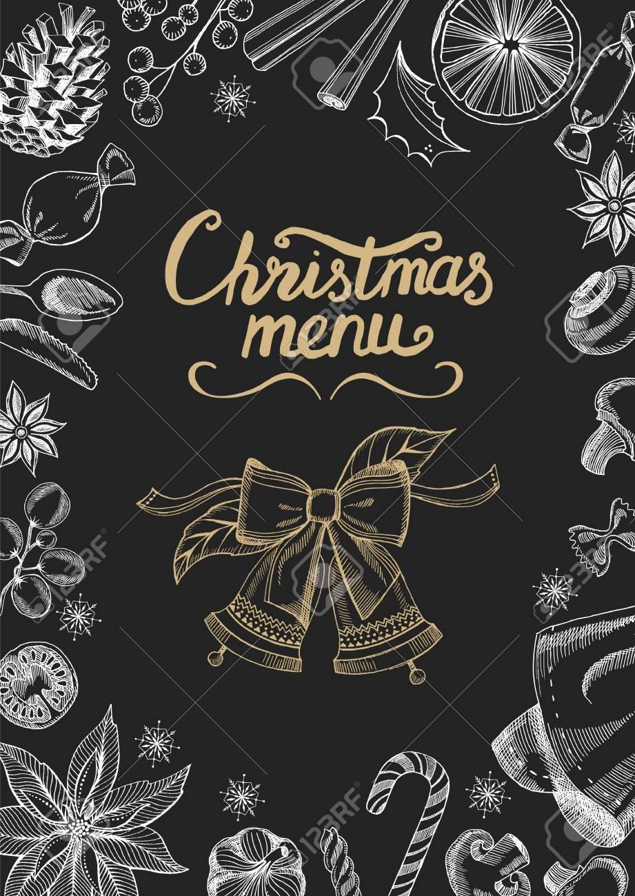Un Bon Menu De Noel.Noel Brochure De Restaurant Modele De Menu Fond De Vacances Et De Design Bonne Fete Du Nouvel An Avec Le Graphique De Noel