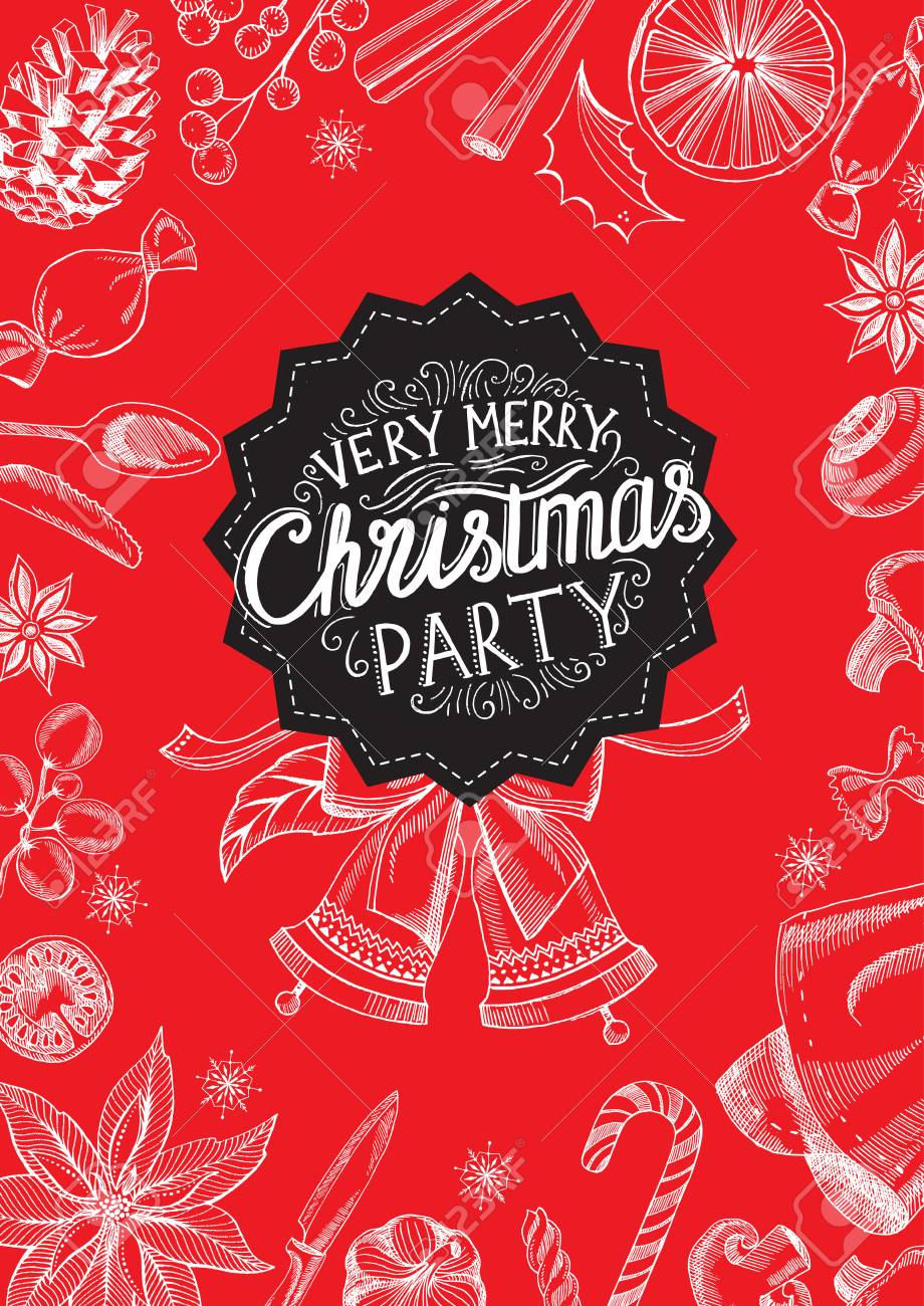 christmas restaurant brochure menu template holiday background and design happy new year party