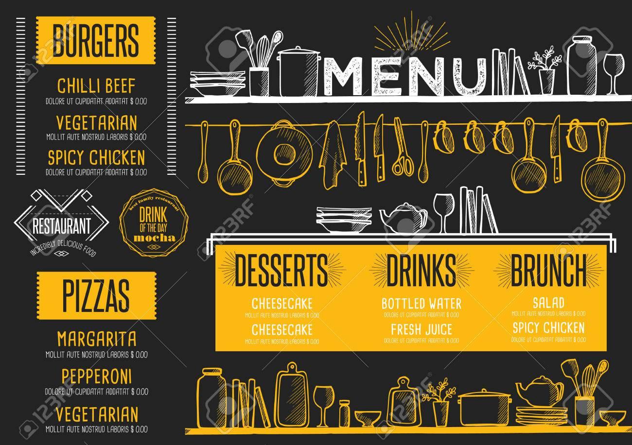 cafe menü essen platzdeckchen broschüre restaurant template design