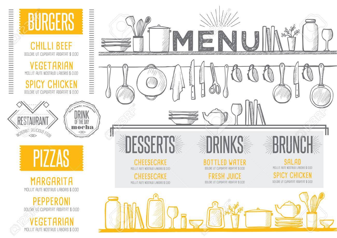 Tolle Wort Restaurant Menüvorlage Galerie - Entry Level Resume ...