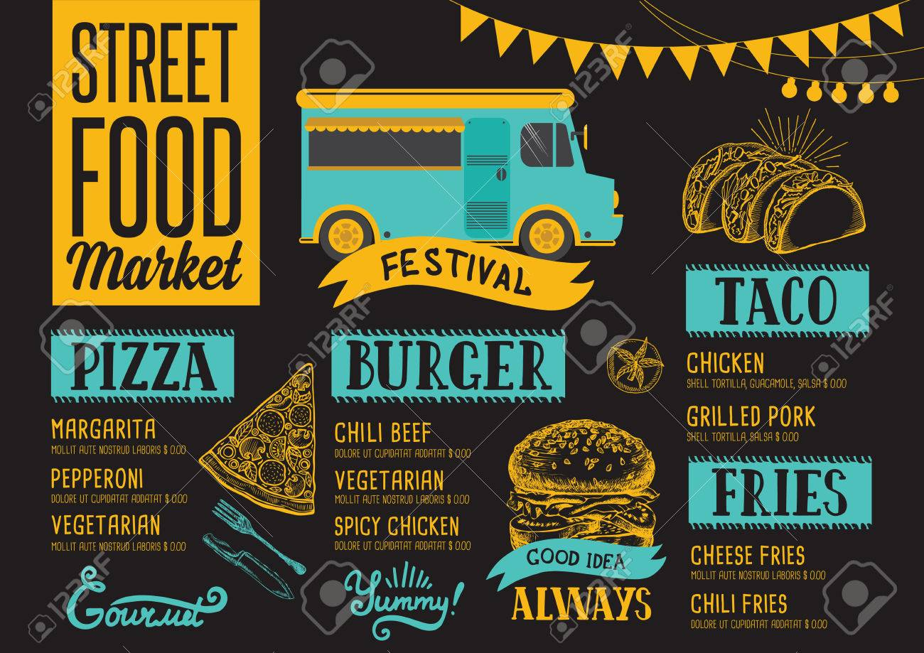 Black With Meat Skewers Food Festival Poster Templates By Canva