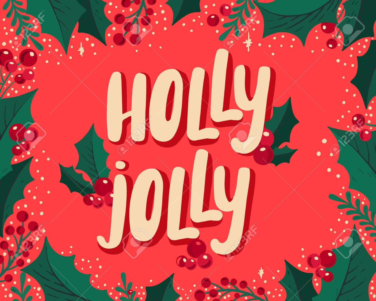 Christmas Holiday Party.Christmas And New Year Background For Holiday Party Vector Illustration