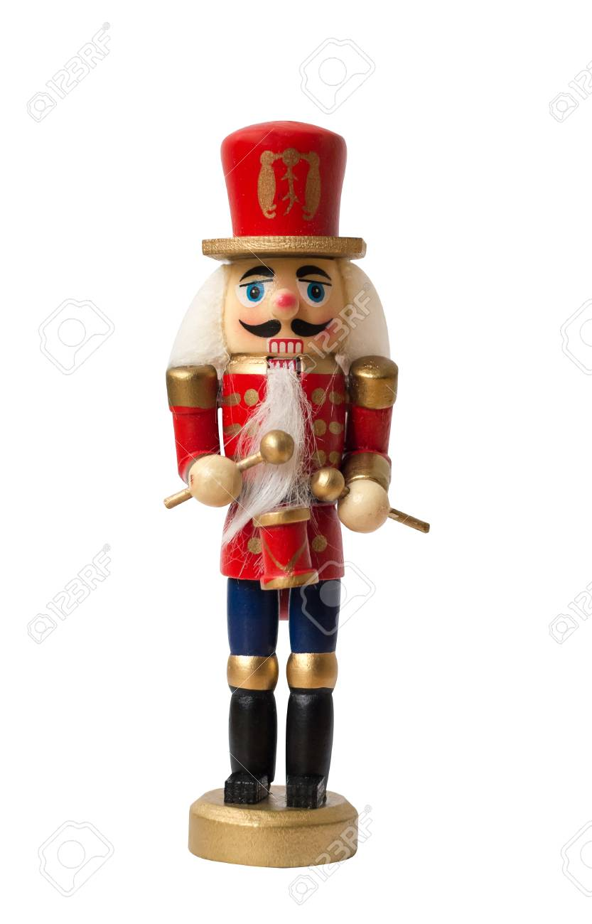 Christmas Nutcracker Toy Soldier Traditional Figurine Isolated