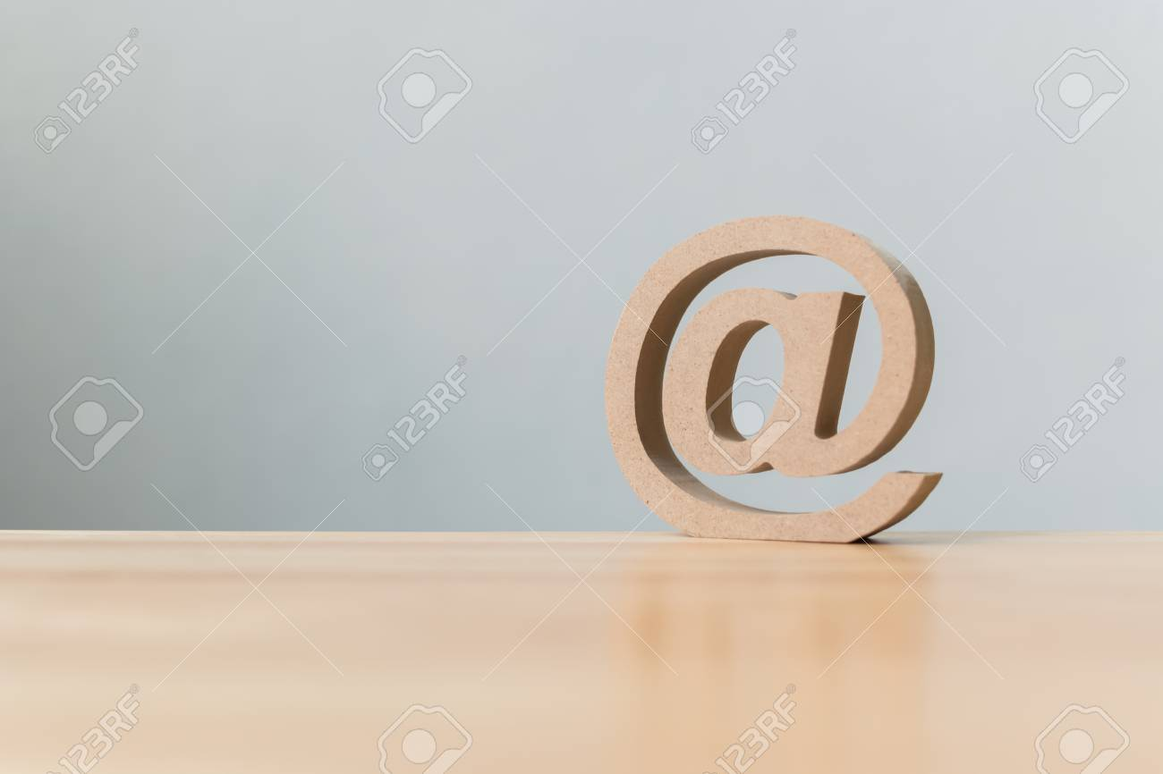 Email Address Icon Wooden Symbol Contact Us Customer Service