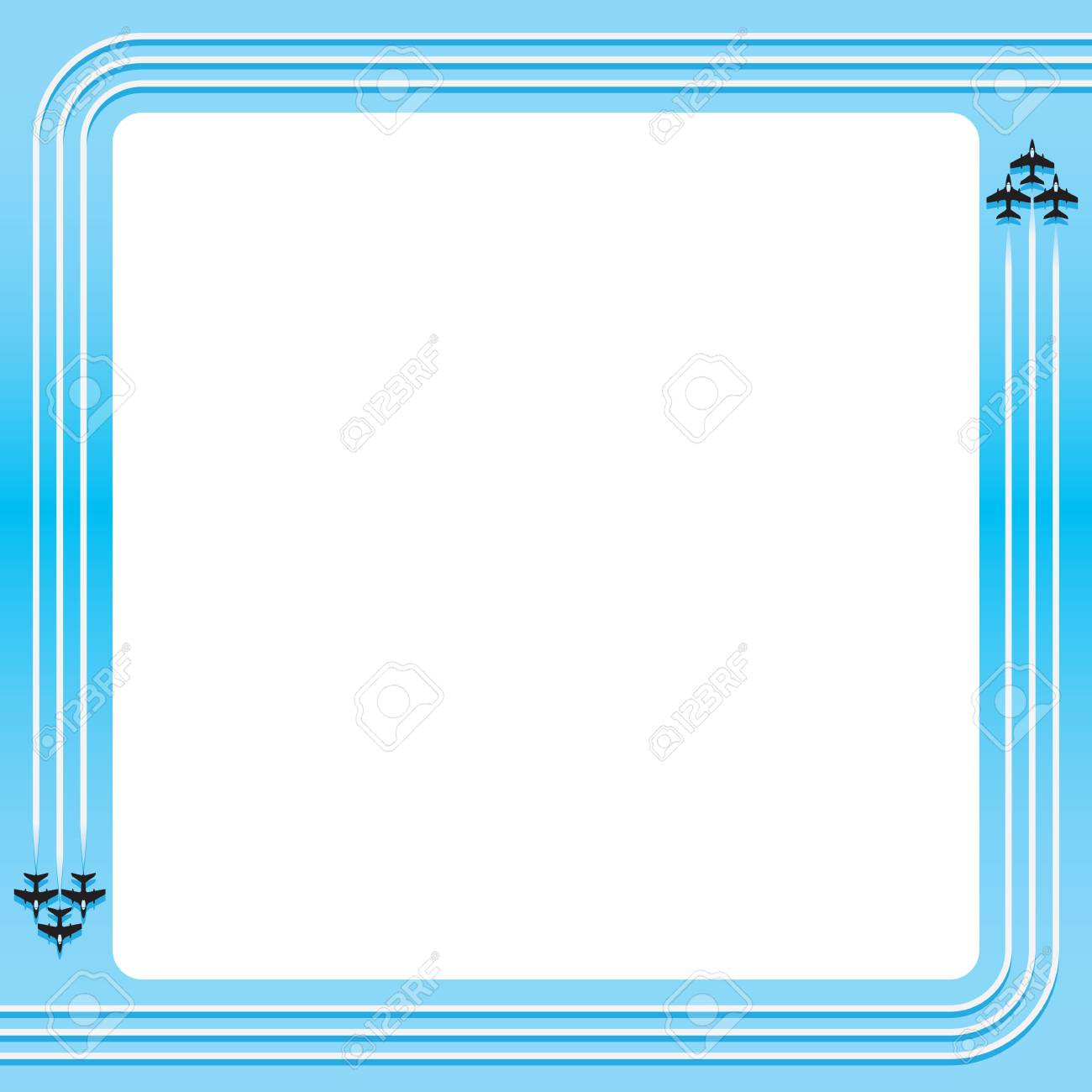 simple vector jet theme border layout element royalty free