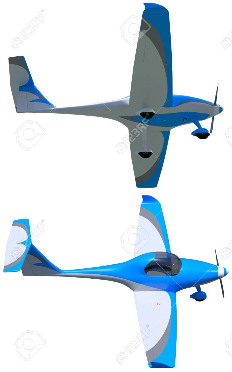 3d render of a light sport aircraft  Small general aviation plane