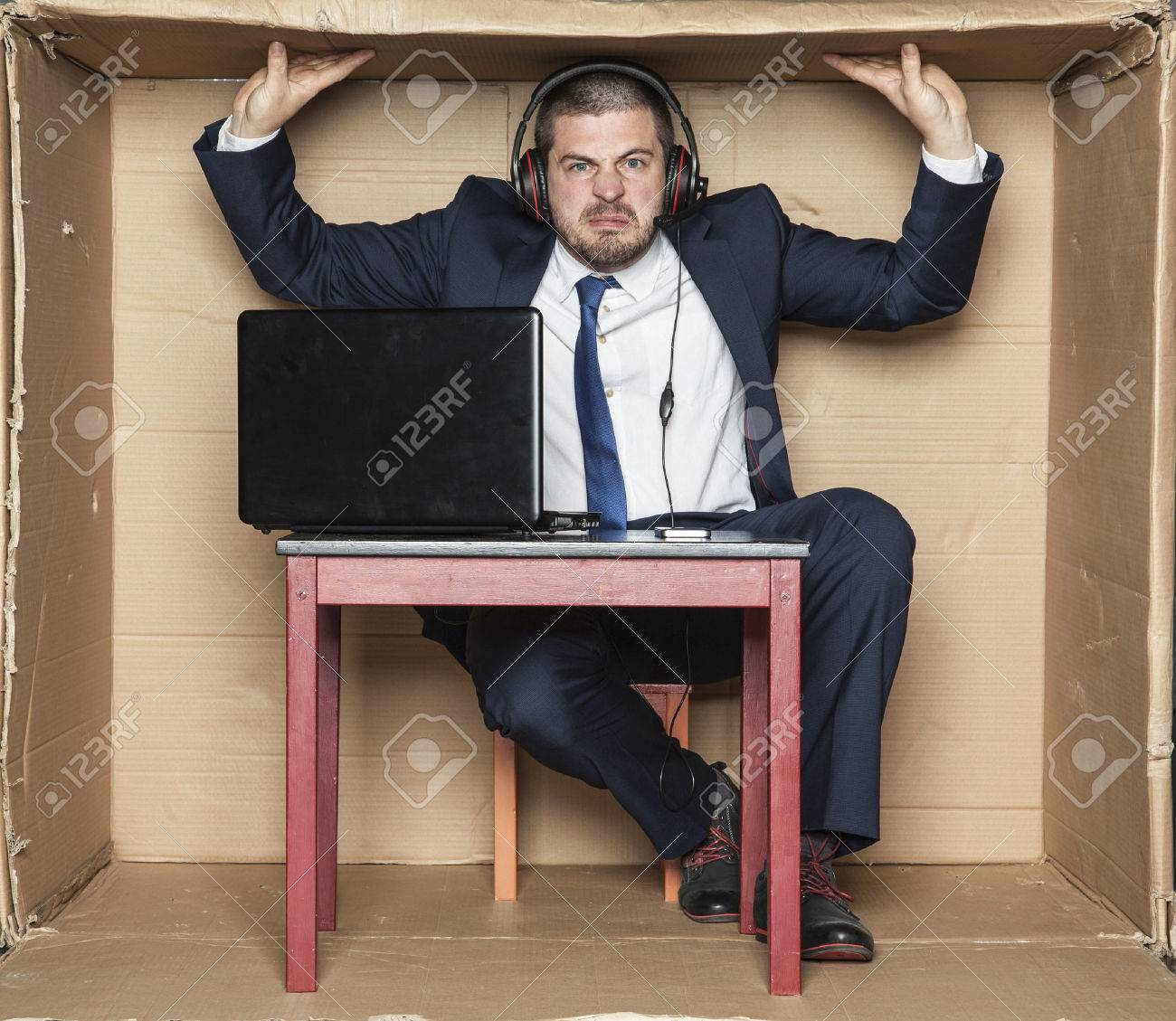 cramped office space. Cramped Office At The Workplace Stock Photo - 55798019 Space