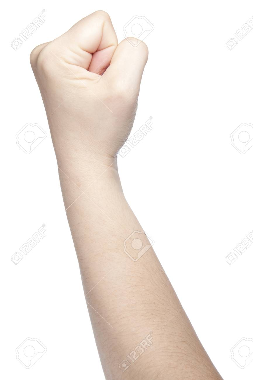 Clenched fist a symbol of strength and violence isolated on clenched fist a symbol of strength and violence isolated on white background stock photo buycottarizona Choice Image