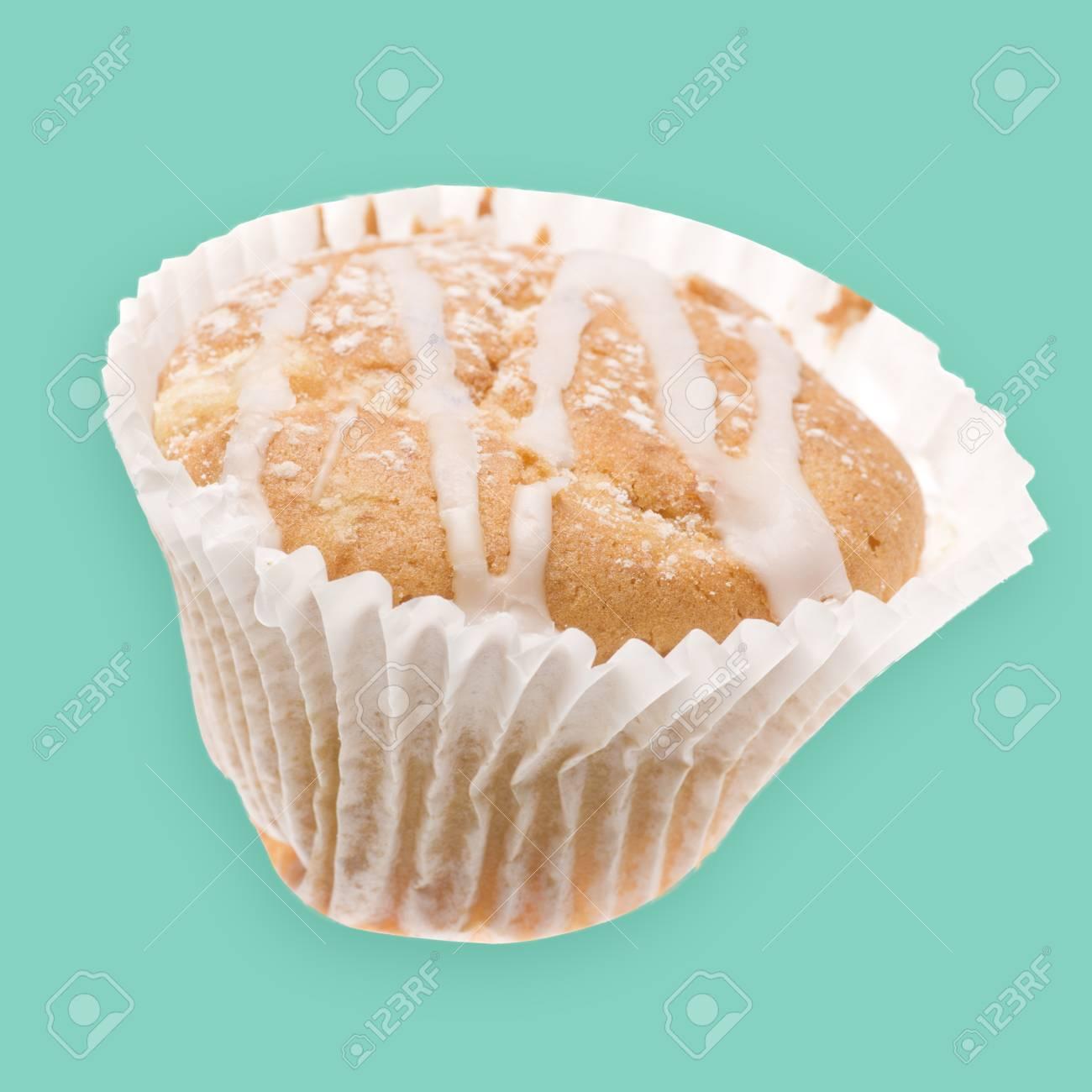 Haus Gebackene Leckere Tasse Kuchen Muffins Mit Glasur Auf Der
