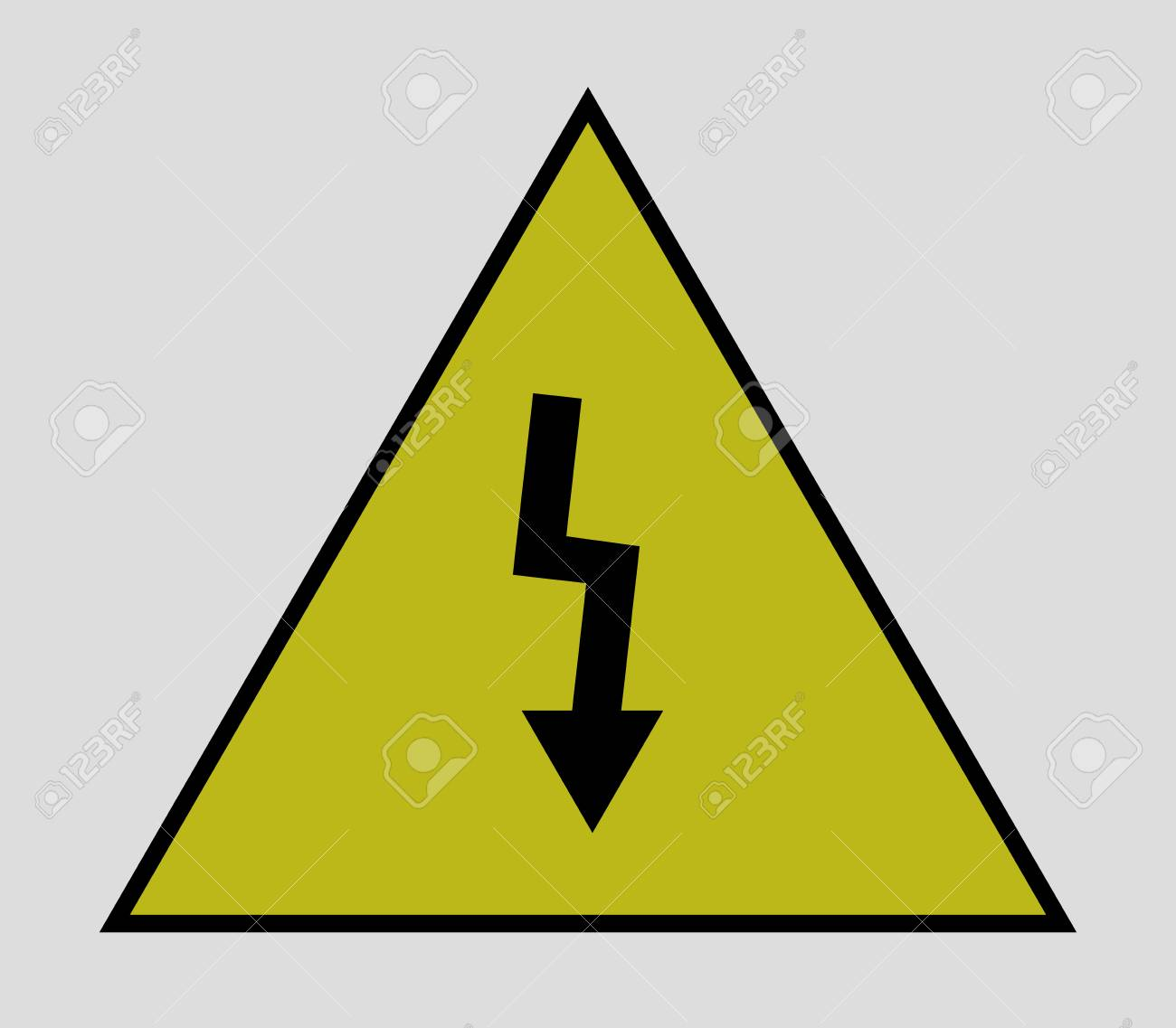 Icon Electrical Warning Sign Royalty Free Cliparts Vectors And