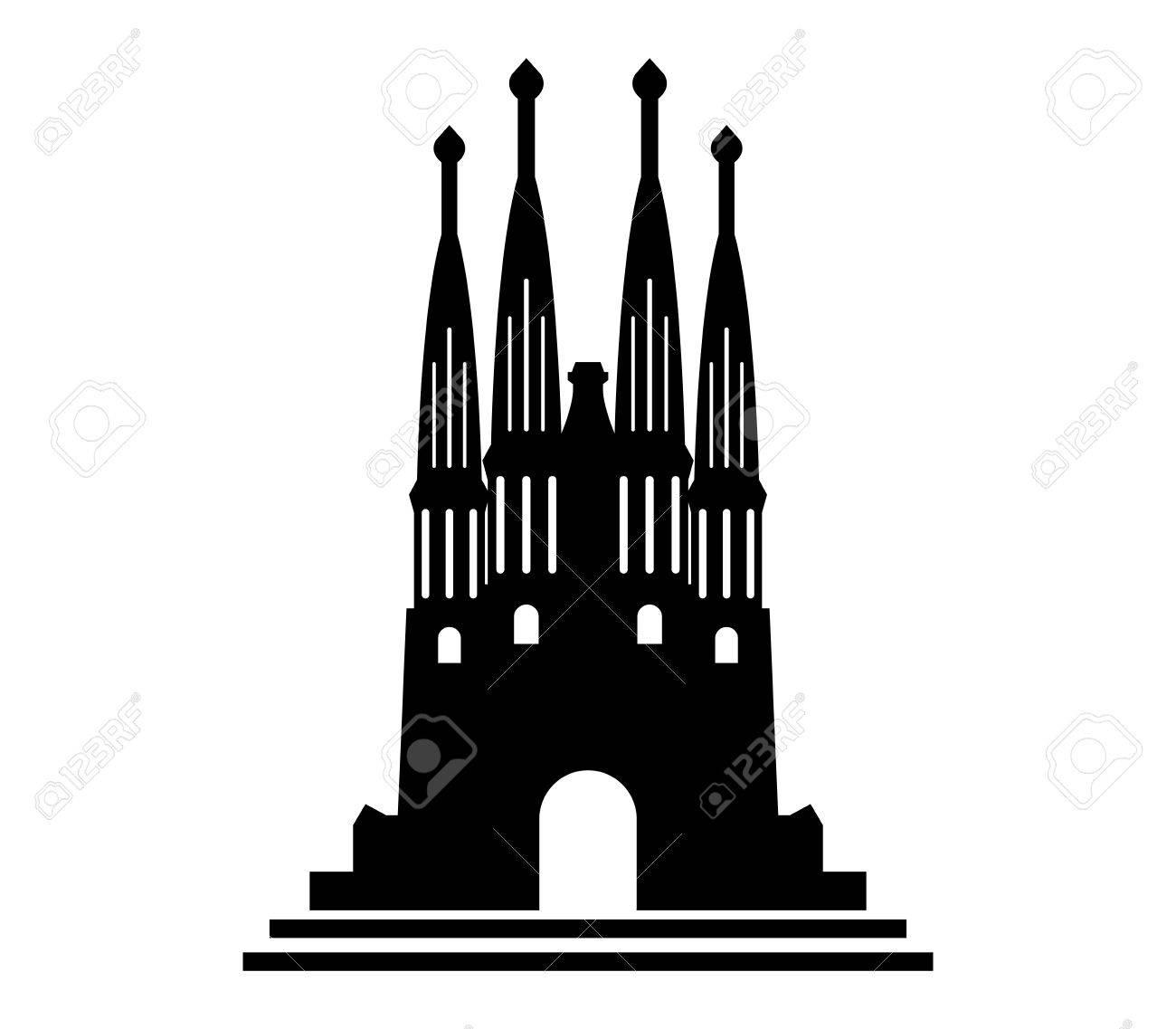 アイコン サグラダ ファミリアのイラスト素材 ベクタ Image
