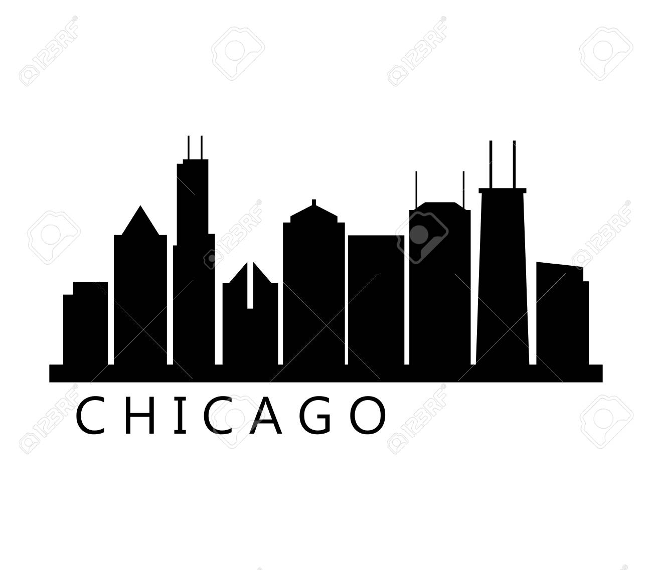 chicago skyline royalty free cliparts vectors and stock rh 123rf com chicago skyline vector art free chicago skyline vector download