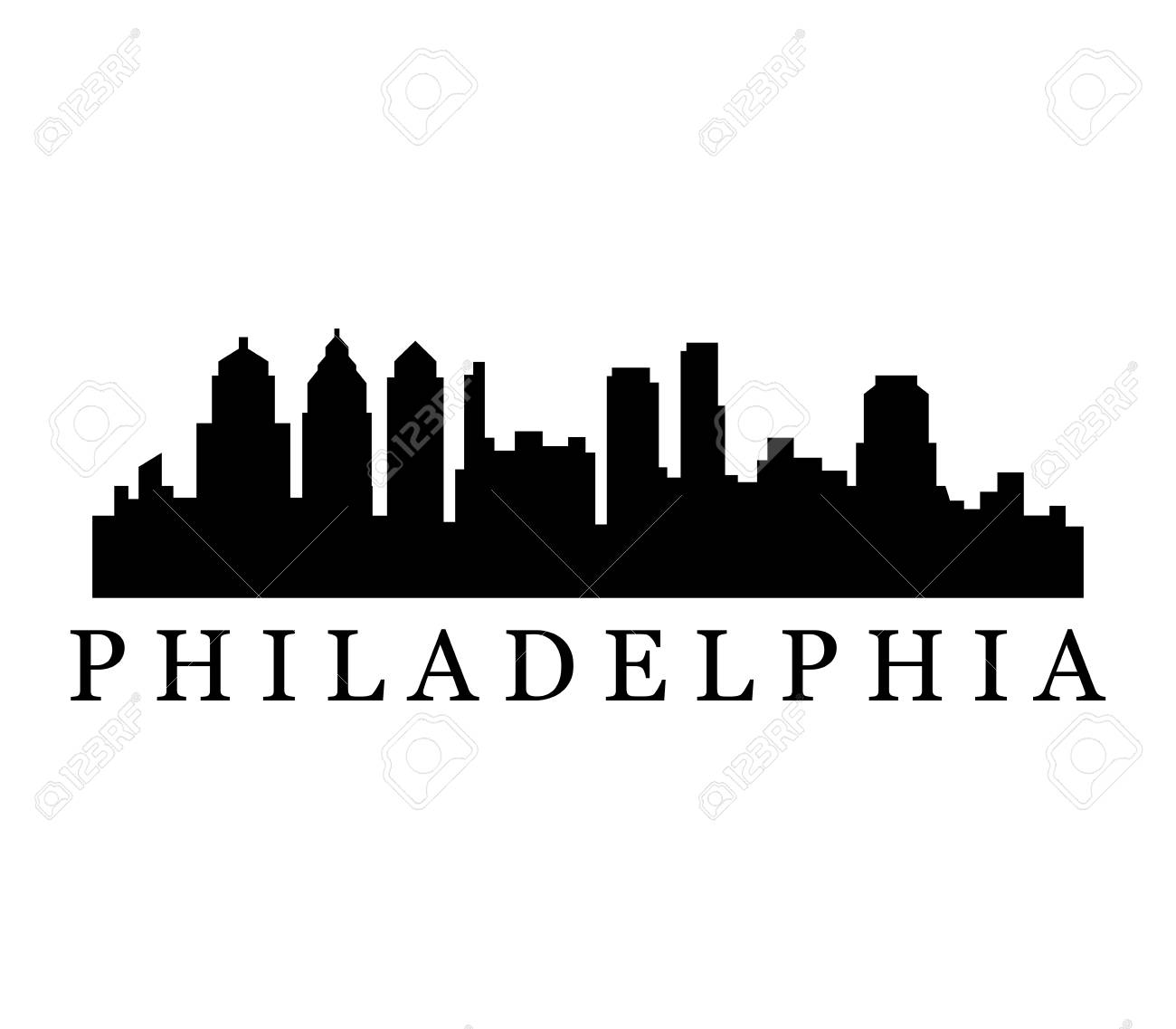philadelphia skyline royalty free cliparts, vectors, and stock  illustration. image 97819909.  123rf