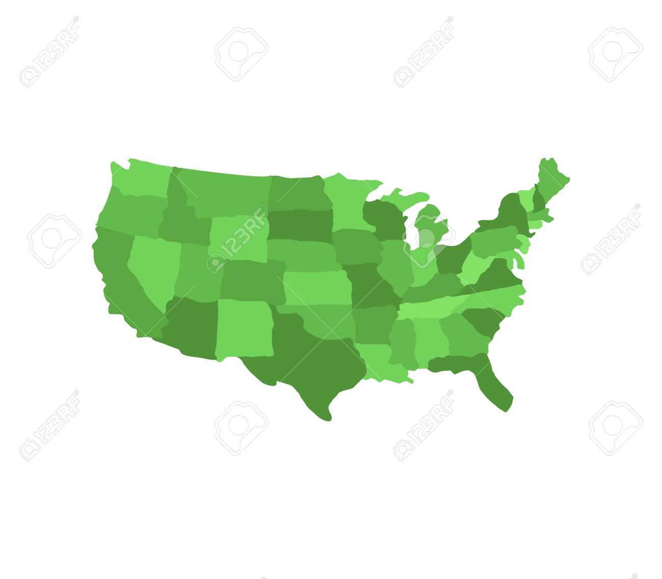 Map Of United States With Regions Icon. Royalty Free Cliparts ...